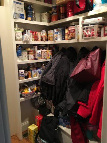 Mudroom,Coats, backpacks, pantry storage