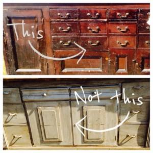 2 service pieces, Nashville interior designers at Eric Ross Interiors on antiques and original patina, for interior design contact Eric Ross, today!