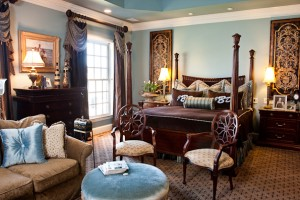 Master bedroom interior design by Eric Ross Interiors, interior designers in Nashville, TN.