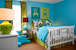 A decorated kids room, for interior design in Nashville, TN, by a top interior designer call Eric Ross Interiors.