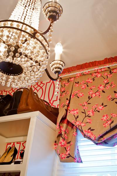 Closet interior design by Nashville interior designers, Eric Ross Interiors.