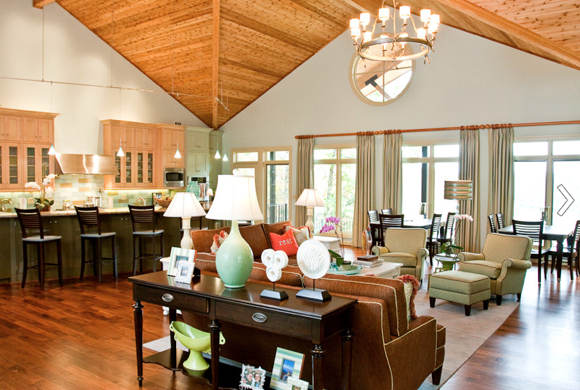 Lakehouse interior design project Nashville interior designers Eric Ross Interiors did years ago for a client.