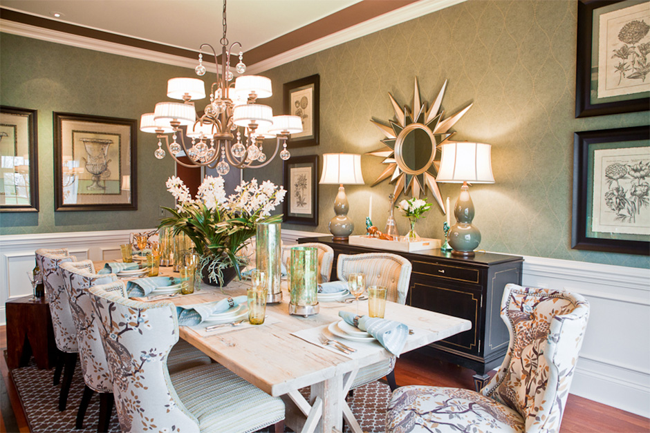 A dining room, interior design in Nashville, TN by Eric Ross Interiors, interior designers and decorators.