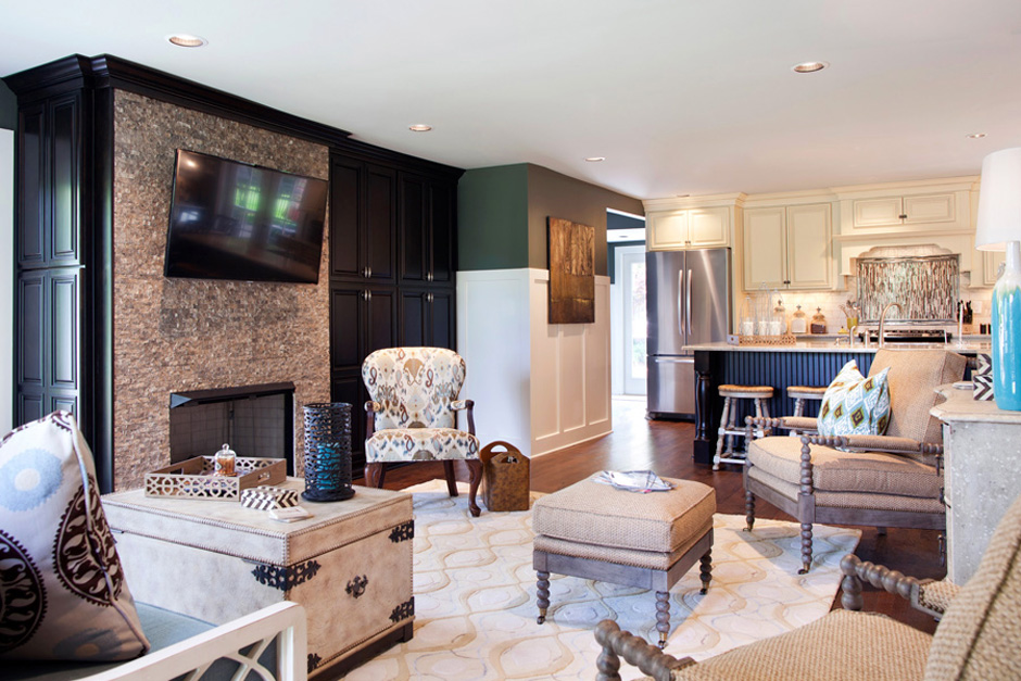 Interior design in Nashville, TN by Eric Ross Interiors, decorating dilemmas resolved in an open concept project.
