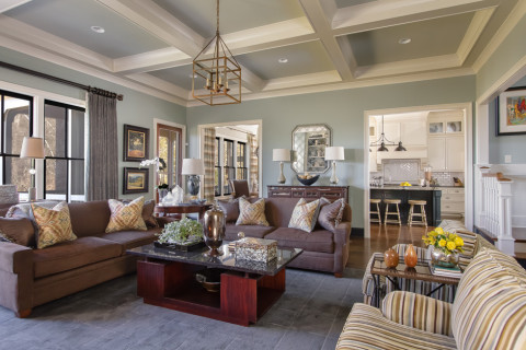 Living room design, Nashville interior designers, Eric Ross Interiors designed and decorated the room for good flow as well as separate areas where needed.