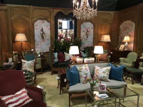 Alcott Interiors Booth at the Antiques & Garden Show, Eric Ross Interiors, interior design in Nashville, TN, shares his 5 favorite Nashville interior designers.