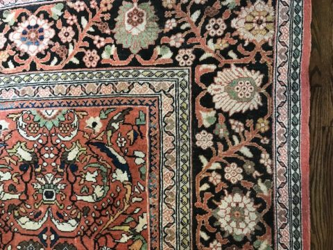 An antique rug, Nashville interior designer on interior design and choosing an interior door color.