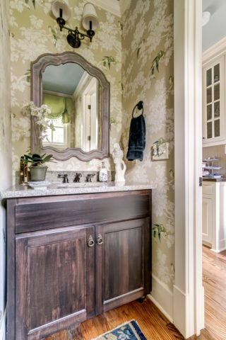 Bod and beautiful wallpaper, interior design in Nashville, TN by Eric Ross Interiors, interior designers and decorators.