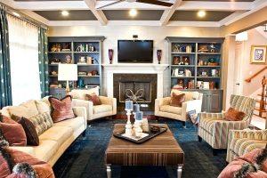 A living room, Eric Ross Interiors provides interior design in Nashville.