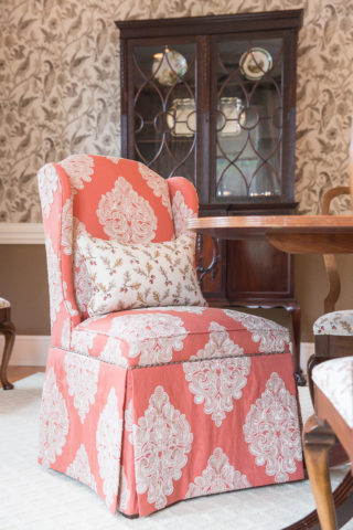 Embroidered Damask, a Comeback Kid, for Nashville interior design call Eric Ross Interiors, best interior designer in Nashville, TN.