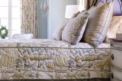 Quilted coverlet, call the best interior designer in Nashville, TN for your next interior design project!