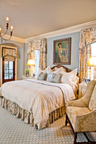 Damask Side Chair, interior design in Nashville, TN by Eric Ross Interiors, interior designers for your next project!