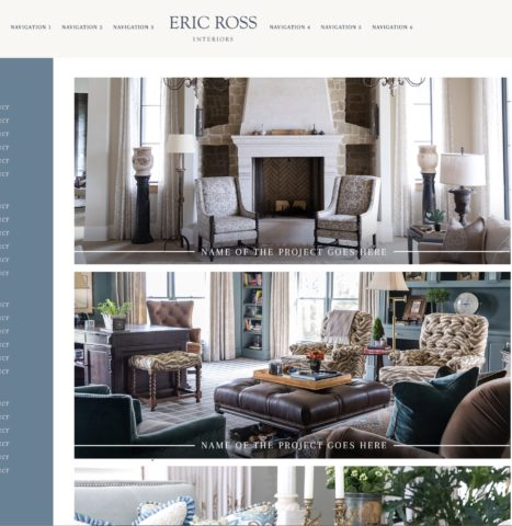 Website mock up, for interior design in Nashville contact Eric Ross Interiors, see why Eric is one of the top interior designers in Nashville, TN and beyond!