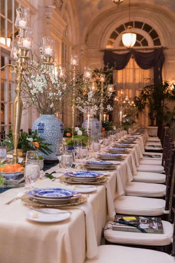 Tablescapes created by Geny's Flowers, Nashville interior design, Eric Ross Interiors.