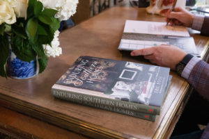 Eric Ross signing Enduring Southern Homes books, for interior design in Nashville, contact Eric Ross, today!