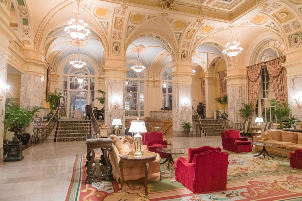 The Hermitage Hotel Lobby, Eric Ross, top interior designer in Nashville, TN, held his event here.