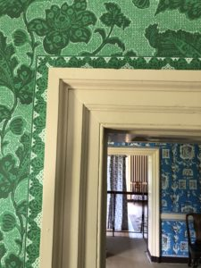 Wallpaper patterns, Nashville interior designers visit the George Wythe House, top interior designer in Nashville, TN, Eric Ross Interiors.