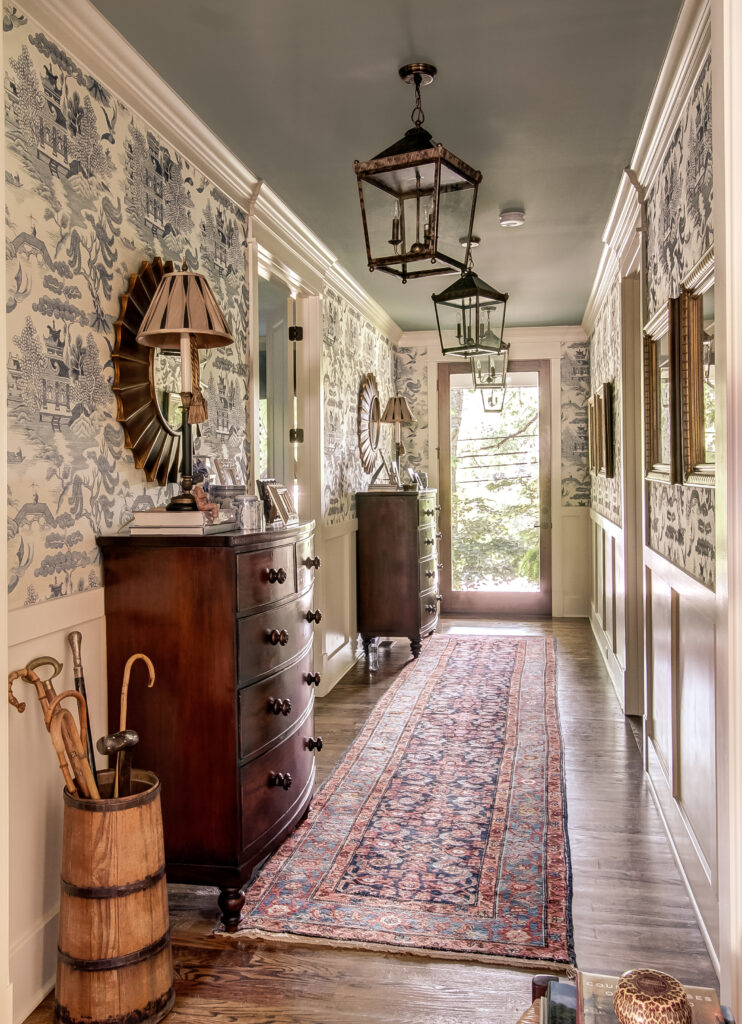 Beautifully decorated hallway, call Nashville interior designers today for your next interior design project.